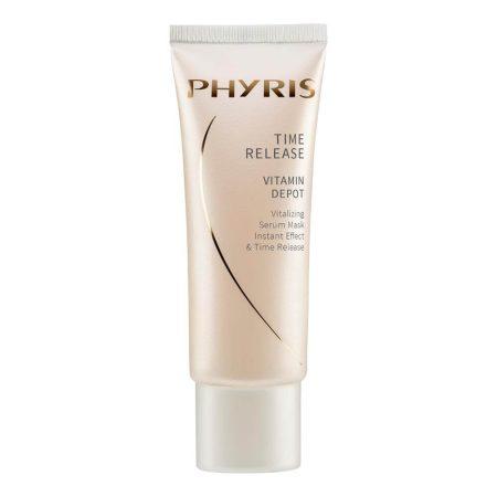 Máscara de vitaminas revitalizante, que revigora e refresca instantaneamente a pele, protegendo-a e combatendo o envelhecimento precoce.