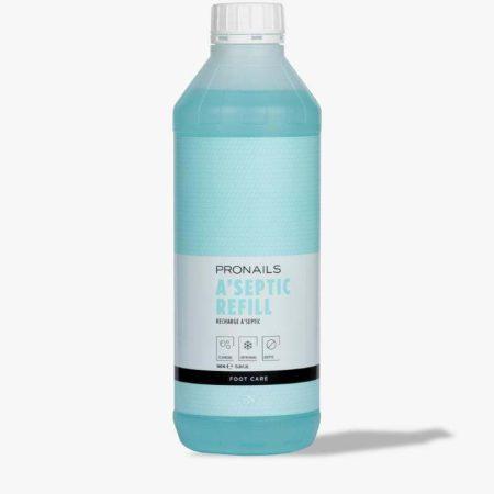 O desinfetante de pés da ProNails é o começo higiénico indicado para todos os tratamentos de pedicure! Contém 70% de álcool.