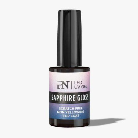 O brilho de gel Sapphire Gloss é um dos produtos mais vendidos da ProNails. É um gloss de alto brilho e extremamente resistente a riscos!