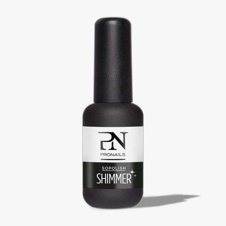 Use o Sopolish Shimmer para dar a qualquer cor Sopolish um brilho delicado, duradouro e sem riscos. Além disso, consegue manter o brilho durante pelo menos 14 dias.