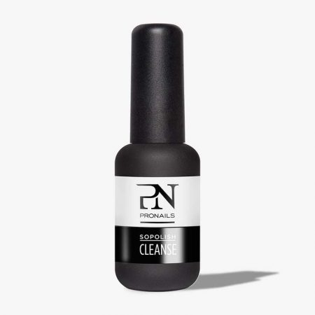 O Sopolish Cleanse é a primeira fase da aplicação do Sopolish. Deve usar este produto para a remoção eficaz de qualquer resíduo oleoso da placa ungueal. Para que o Sopolish aguente bem, deve desengordurar a unha.