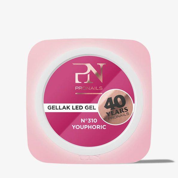 O gel de cor Gellak 310 é muito pigmentado e por isso garante uma cobertura perfeita a todas as unhas de gel. Disponível em mais de 200 cores
