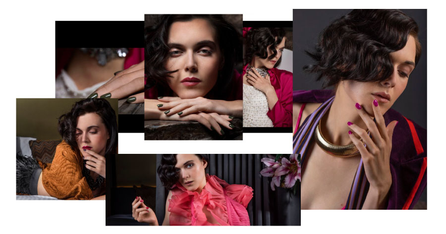 As novas cores de unhas da coleção ABOUT LAST NIGHT refletem perfeitamente o espírito destes tempos: uma paleta de cores de unhas glamorosas!