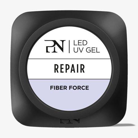 Este gel com fibra de vidro é a solução ideal para o fortalecimento das unhas finas e danificadas. O Fiber Force não dá a sensação de calor!